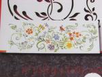 Stencil Kvetinová bordúra s vtáčikom ZN616