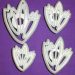 Vykr. Orchad - Lace leaf cutter set 4